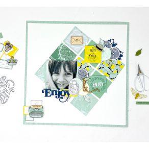 Papier imprimé DOLCE VITA 5 par Florilèges Design. Scrapbooking et loisirs créatifs. Livraison rapide et cadeau dans chaque c...