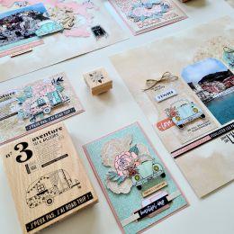 Papier uni n°33 VERT OPALINE par Florilèges Design. Scrapbooking et loisirs créatifs. Livraison rapide et cadeau dans chaque ...