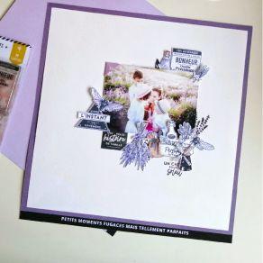 Papier uni n°35 VIOLET DE GIVERNY par Florilèges Design. Scrapbooking et loisirs créatifs. Livraison rapide et cadeau dans ch...