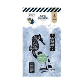 Tampon clear ESCAPADE EN MER par Florilèges Design. Scrapbooking et loisirs créatifs. Livraison rapide et cadeau dans chaque ...
