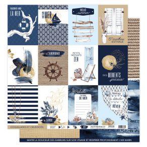 Papier imprimé VUE SUR MER 01 par Florilèges Design. Scrapbooking et loisirs créatifs. Livraison rapide et cadeau dans chaque...