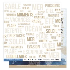 Papier imprimé VUE SUR MER 05 par Florilèges Design. Scrapbooking et loisirs créatifs. Livraison rapide et cadeau dans chaque...