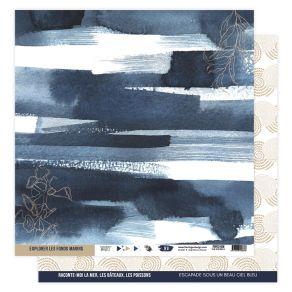 Papier imprimé VUE SUR MER 06 par Florilèges Design. Scrapbooking et loisirs créatifs. Livraison rapide et cadeau dans chaque...