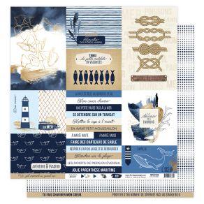 Papier imprimé VUE SUR MER 08 par Florilèges Design. Scrapbooking et loisirs créatifs. Livraison rapide et cadeau dans chaque...