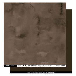 Papier uni n°36 MARRON CHOCOLAT par Florilèges Design. Scrapbooking et loisirs créatifs. Livraison rapide et cadeau dans chaq...