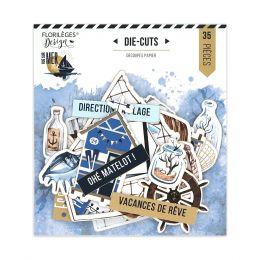 Die cuts imprimés VUE SUR MER par Florilèges Design. Scrapbooking et loisirs créatifs. Livraison rapide et cadeau dans chaque...
