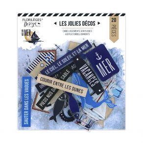 Décos acryliques VUE SUR MER par Florilèges Design. Scrapbooking et loisirs créatifs. Livraison rapide et cadeau dans chaque ...