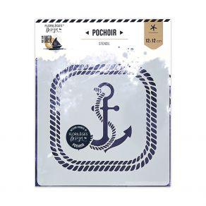 Pochoir ANCRE MARINE par Florilèges Design. Scrapbooking et loisirs créatifs. Livraison rapide et cadeau dans chaque commande.