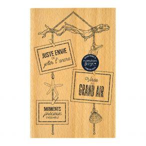 Tampon bois SUSPENSION BOIS FLOTTÉ par Florilèges Design. Scrapbooking et loisirs créatifs. Livraison rapide et cadeau dans c...