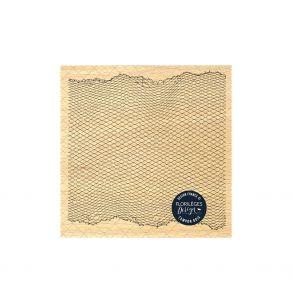 Tampon bois FILET À POISSONS par Florilèges Design. Scrapbooking et loisirs créatifs. Livraison rapide et cadeau dans chaque ...