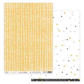 Papier imprimé POUSSIÈRE D'ÉTOILES 6 par Florilèges Design. Scrapbooking et loisirs créatifs. Livraison rapide et cadeau dans...