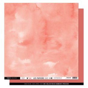 Papier uni n°40 VERMILLON par Florilèges Design. Scrapbooking et loisirs créatifs. Livraison rapide et cadeau dans chaque com...