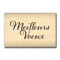 Tampon bois MINI MEILLEURS VŒUX  par Florilèges Design. Scrapbooking et loisirs créatifs. Livraison rapide et cadeau dans cha...