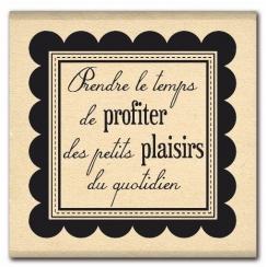 Tampon bois PLAISIRS QUOTIDIENS par Florilèges Design. Scrapbooking et loisirs créatifs. Livraison rapide et cadeau dans chaq...