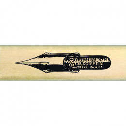Tampon bois PLUME ANCIENNE par Florilèges Design. Scrapbooking et loisirs créatifs. Livraison rapide et cadeau dans chaque co...