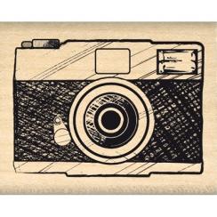 Tampon bois APPAREIL PHOTO par Florilèges Design. Scrapbooking et loisirs créatifs. Livraison rapide et cadeau dans chaque co...