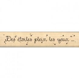 Tampon bois DES ÉTOILES PLEIN LES YEUX par Florilèges Design. Scrapbooking et loisirs créatifs. Livraison rapide et cadeau da...