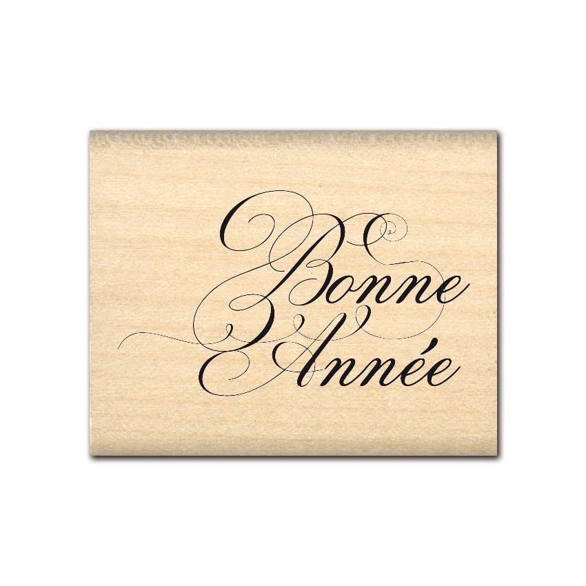 Tampon bois ANNÉE ÉLEGANTE par Florilèges Design. Scrapbooking et loisirs créatifs. Livraison rapide et cadeau dans chaque co...