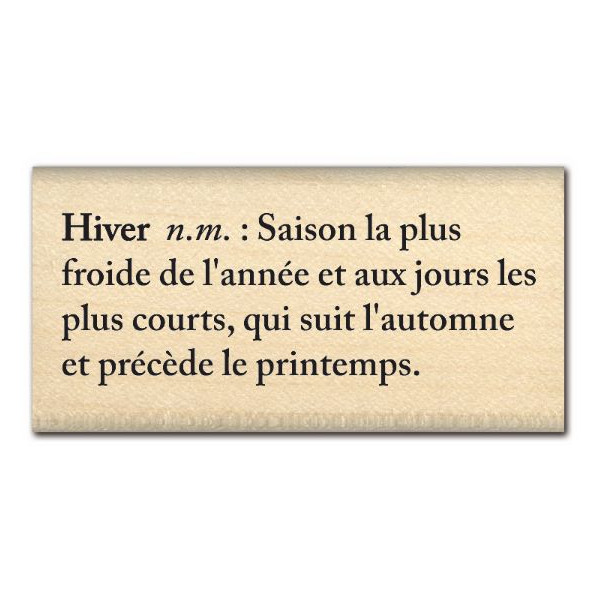 DEFINITION HIVERNALE