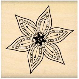 Tampon bois PETITE FLEUR STAR par Florilèges Design. Scrapbooking et loisirs créatifs. Livraison rapide et cadeau dans chaque...
