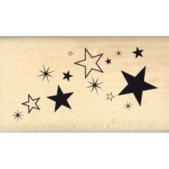 Tampon bois POUSSIERE D'ETOILES par Florilèges Design. Scrapbooking et loisirs créatifs. Livraison rapide et cadeau dans chaq...
