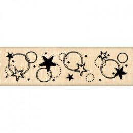 Tampon bois CIEL D'ETOILES par Florilèges Design. Scrapbooking et loisirs créatifs. Livraison rapide et cadeau dans chaque co...