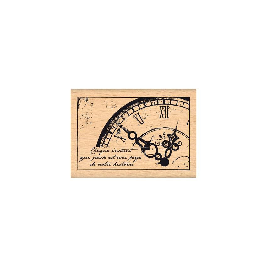 Commandez Tampon bois VIEILLE HORLOGE Florilèges Design. Livraison rapide et cadeau dans chaque commande.