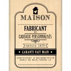 PROMO de -30% sur Tampon bois FABRICANT DE CADEAUX Florilèges Design