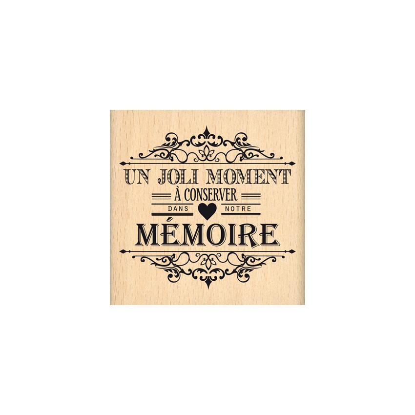 Tampon bois MOMENT A CONSERVER par Florilèges Design. Scrapbooking et loisirs créatifs. Livraison rapide et cadeau dans chaqu...