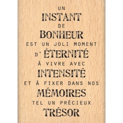 Tampon bois INSTANT D'ETERNITE par Florilèges Design. Scrapbooking et loisirs créatifs. Livraison rapide et cadeau dans chaqu...