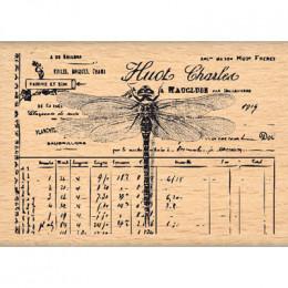 Tampon bois PETITE LIBELLULE par Florilèges Design. Scrapbooking et loisirs créatifs. Livraison rapide et cadeau dans chaque ...