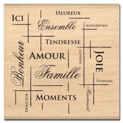 Tampon bois FILET DE BONHEUR par Florilèges Design. Scrapbooking et loisirs créatifs. Livraison rapide et cadeau dans chaque ...