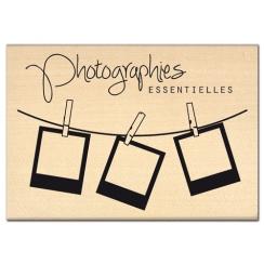 Tampon bois PHOTOGRAPHIES ESSENTIELLES par Florilèges Design. Scrapbooking et loisirs créatifs. Livraison rapide et cadeau da...