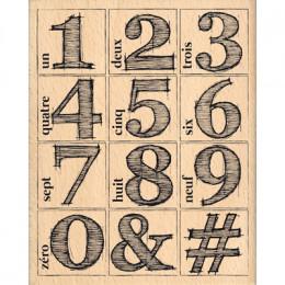 Tampon bois CHIFFRES EN DOUBLE par Florilèges Design. Scrapbooking et loisirs créatifs. Livraison rapide et cadeau dans chaqu...