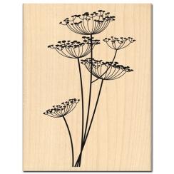 Tampon bois FLEURS LEGERES  par Florilèges Design. Scrapbooking et loisirs créatifs. Livraison rapide et cadeau dans chaque c...