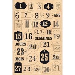 Tampon bois JOURS DE DÉCEMBRE par Florilèges Design. Scrapbooking et loisirs créatifs. Livraison rapide et cadeau dans chaque...