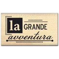 Commandez Tampon bois italien GRANDE AVVENTURA Florilèges Design. Livraison rapide et cadeau dans chaque commande.