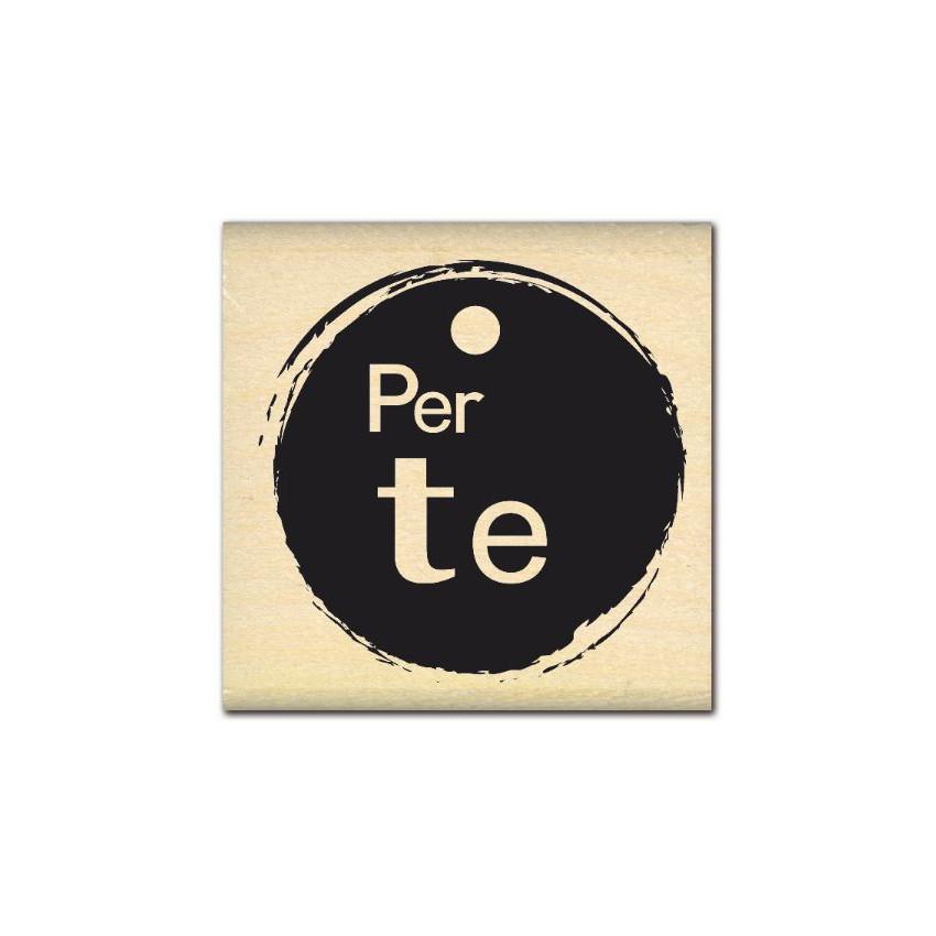 PROMO de -99.99% sur Tampon bois italien PER TE Florilèges Design