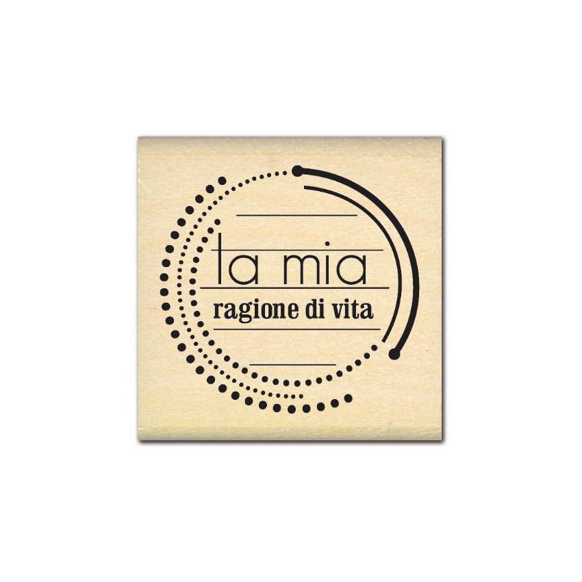 PROMO de -99.99% sur Tampon bois italien RAGIONE DI VITA Florilèges Design