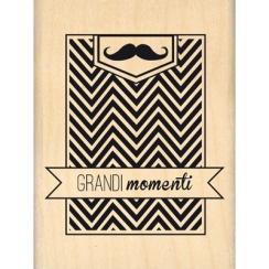 PROMO de -99.99% sur Tampon bois italien GRANDIMOMENTI Florilèges Design