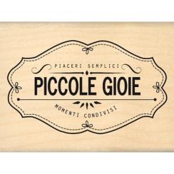 Tampon bois italien PICCOLI MOMENTI DI PIACERE par Florilèges Design. Scrapbooking et loisirs créatifs. Livraison rapide et c...