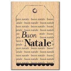 Tampon bois italien BUON NATALE par Florilèges Design. Scrapbooking et loisirs créatifs. Livraison rapide et cadeau dans chaq...