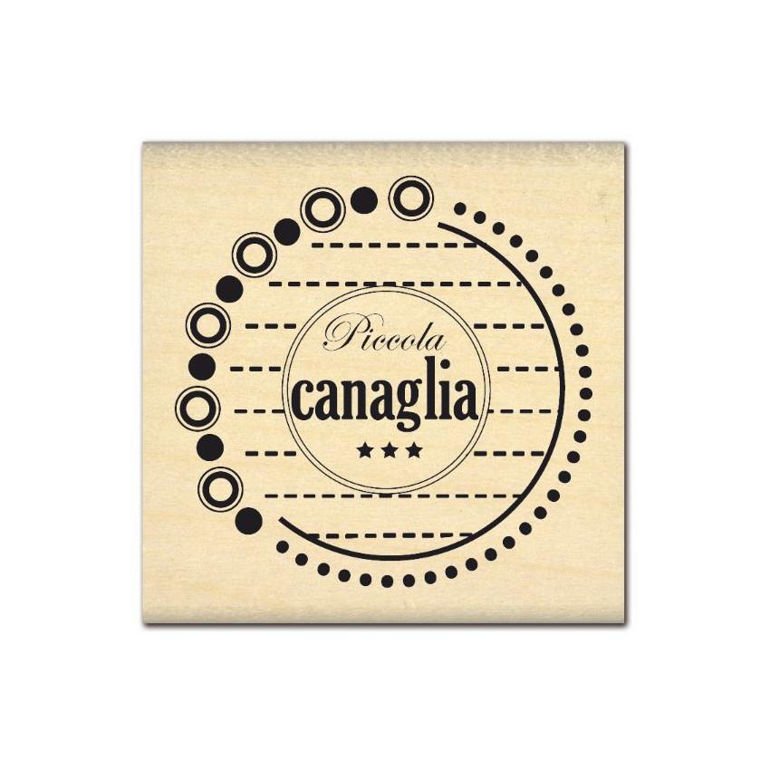 PROMO de -99.99% sur Tampon bois italien PICCOLA CANAGLIA Florilèges Design