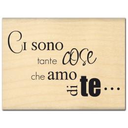 Parfait pour créer : Tampon bois italien TANTE COSE par Florilèges Design. Livraison rapide et cadeau dans chaque commande.