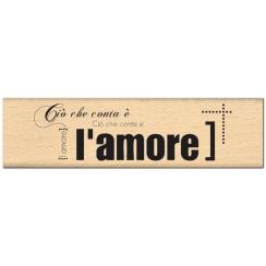 PROMO de -99.99% sur Tampon bois italien E L AMORE Florilèges Design