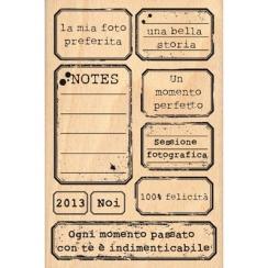 Tampon bois ETICHETTE D'EPOCA par Florilèges Design. Scrapbooking et loisirs créatifs. Livraison rapide et cadeau dans chaque...