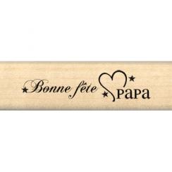 Tampon bois BONNE FÊTE PAPA par Florilèges Design. Scrapbooking et loisirs créatifs. Livraison rapide et cadeau dans chaque c...