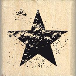 Tampon bois ÉTOILE USÉE par Florilèges Design. Scrapbooking et loisirs créatifs. Livraison rapide et cadeau dans chaque comma...