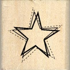 Tampon bois PETITE ÉTOILE par Florilèges Design. Scrapbooking et loisirs créatifs. Livraison rapide et cadeau dans chaque com...