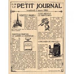 Tampon bois LE PETIT JOURNAL par Florilèges Design. Scrapbooking et loisirs créatifs. Livraison rapide et cadeau dans chaque ...